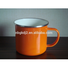 enamel camping mug carbon steel with enamel coating