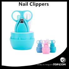 Herramientas para uñas 4 piezas Herramientas de plástico para bebés Juego de manicura Regalo Seguridad Belleza Juego de maquinillas para uñas de bebé