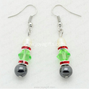 8mm Hematite Round Earring Unique Jewelry Products From China
