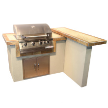 Outdoor Kitchen Gas Barbecue Island with CSA Certification