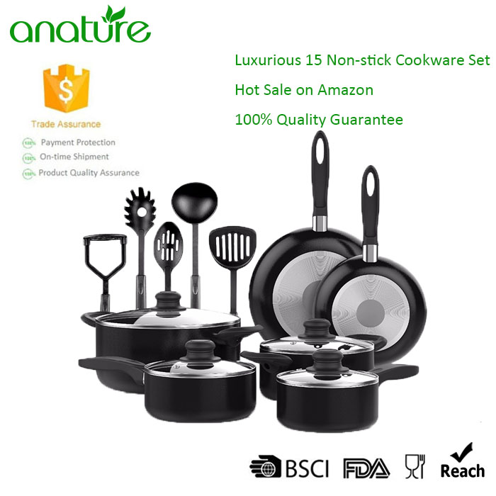 Cheap 15 Pieces Nonstick Cookware Set