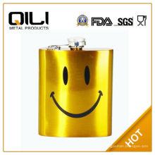 FDA 8 унций золота краской дешевое вино горшок с улыбающееся лицо