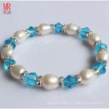 Bracelet élastique de perles originales