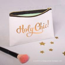Легкая модная косметичка для макияжа из фольги