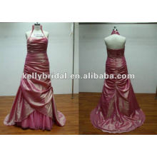 pleat long elegent royal blue bridesmaid dresses