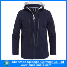 2016 hot venda de inverno softshell jaquetas pretas da china