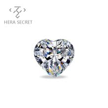 ForeverFlame G H  Heart Cut diamond CVD CZ Moissanite