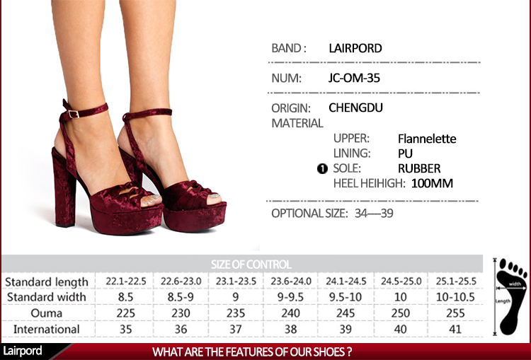 waterproof high heeles shoes