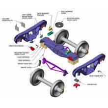 railway side frame bolster axle box coupler knuckle yoke bearing adaptor pivot draft gear motor housing for bogie