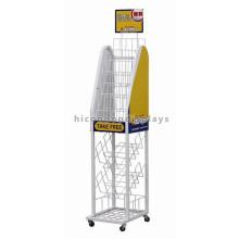 El estante de visualización independiente de la botella de soda del almacén al por menor del alambre de metal móvil