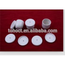 Porcelana cerâmica Alumina cadinho com furo