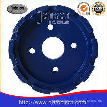190mm Diamond Single Row Concrete Wheel