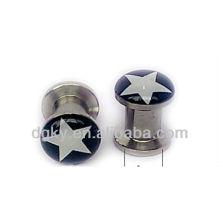 Aço Inoxidável Logo Ear Piercing Ear Flesh túneis