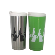 Natural Stainless Steel Vacuum Insulated Drink Mug With Lid