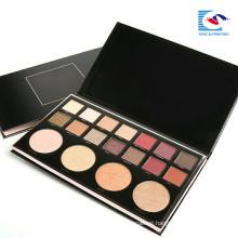 Luxury Customized logo black cardboard eyeshadow palette comestics kits
