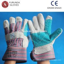 10,5 pouces de fourrure en fourrure en cuir palme renforcé gants de travail manchette de sécurité