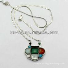 Joyas de lujo de diamantes de señora 925 collar de cadena de plata esterlina hecho en China