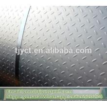 Bobine en aluminium de bande de roulement de checker d'aluminium de 3003 prix en aluminium de bobine en relief