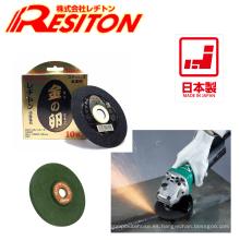 Disco de corte de alta calidad con efecto de pulido para uso industrial. Fabricado por Resiton. Hecho en Japón (disco de aleta abrasivo)