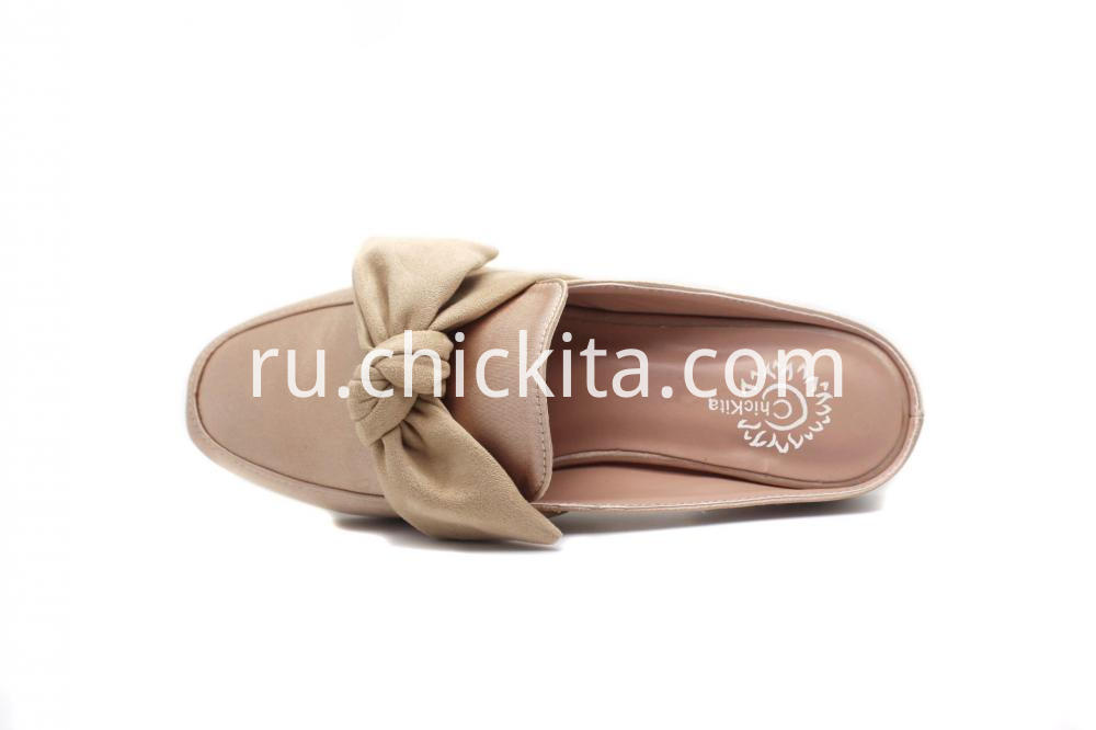 Classic large bowknot with wood printing heel
