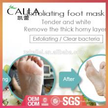 OEM exfoliating profissional da máscara do pé de seda