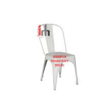 Chaise industrielle blanche
