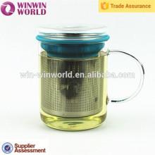 La oferta especial del producto más vendido Regalo promocional de la Navidad Tea Glasses con el filtro