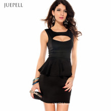 Cutout Sleeveless Fit Women′s Sexy Dress for Summer