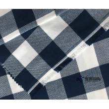 Superzachte Check Geweven Twill 100% katoenen stof