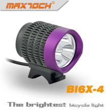 Maxtoch BI6X-4 roxo 2800 Lumen T6 levou 3 * CREE frente luz do Dínamo de bicicleta
