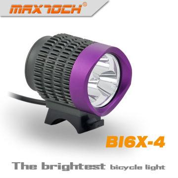 Maxtoch BI6X-4 Purple 2800 Lumen T6 LED 3 * crie avant lumière Dynamo de bicyclette