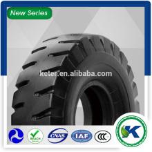 Les pneus de polarisation croisée d'Assurance-Traitent des pneus lisses 18.00-25 L5s portent des pneus d'utilisation