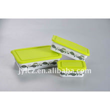 ceramic rectangular shape food storage