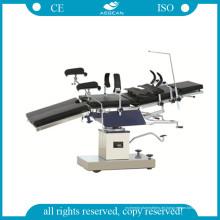 AG-Ot025 Chirurgischer Instrumententisch Ce & ISO Schwarzmetall Ot Tisch