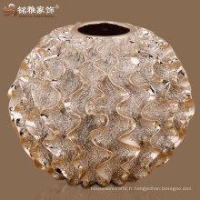 forme de boule ronde élégant vase en résine design pour ornements maison