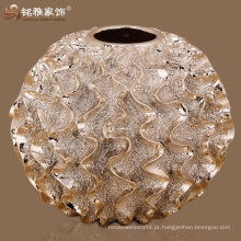 Vaso de resina de design de bola redonda de forma redonda para adorno de casa