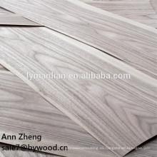 Uso de muebles y chapa de madera natural chapa de nogal negro