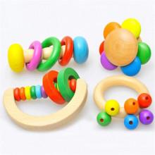 FQ marque belle smart musical en bois kid heureux en bois bébé hochet jouets