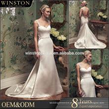 2015 New Fashion Real Photo vestido de noiva de lantejoula