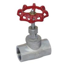 Válvula de globo rosqueada 200psi de aço inoxidável (GAJ11H)
