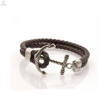 China fabricante grossista pulseira de couro de âncora