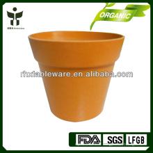 Pots de fleurs en fibre de bambou biodégradables