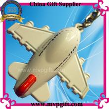 3D Flugzeug Metall Schlüsselanhänger (M-MK52)