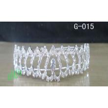 Nueva corona de la reina de la manera para los desfiles que casan coronas nupciales de la boda de la joyería