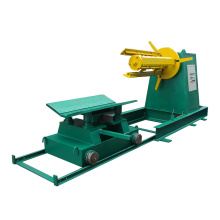 5T Hydraulic uncoiler for roll forming machine with car