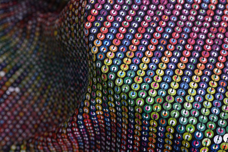 Poly Sequin Embroidery Fabric