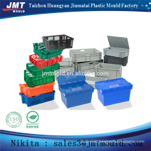 China injection plastic square crate mold factory