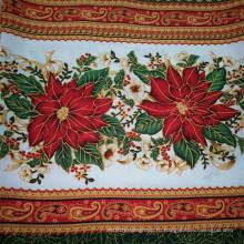 Ткань полиэфирной ткани для скатерти / скатерть Ткань миниатюрная матовая / ткань с набивным тканью