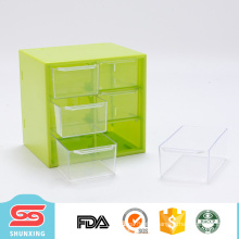 eco friendly small table 6 grids plastic baby drawer for selling