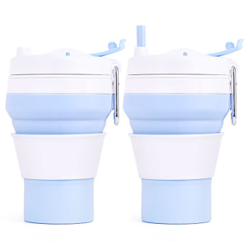 ISilicone Coffee Cup Collapsible Foldable With Lids Best Product Ngo-2019